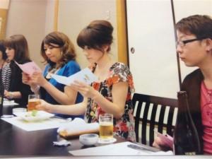 ドレスアップして食事会 今回は和食です。